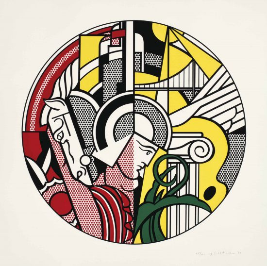 Roy Lichtenstein Screen Print, The Solomon R. Guggenheim Museum Poster, 1969, C.83