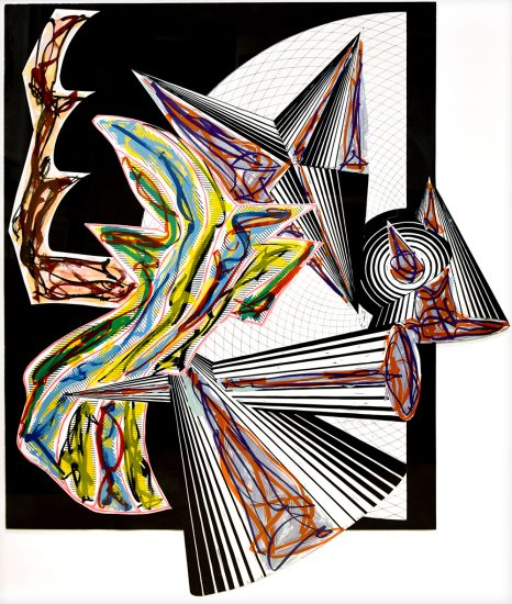 Frank Stella Collage, Then Came Death and Took the Butcher, from Illustrations after El Lissitzky's Had Gadya, 1984