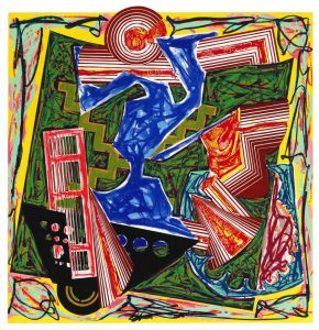 Frank Stella Lithograph, Then water came and quenched the fire, 1984 from Illustrations After El Lissitzky's Had Gadya