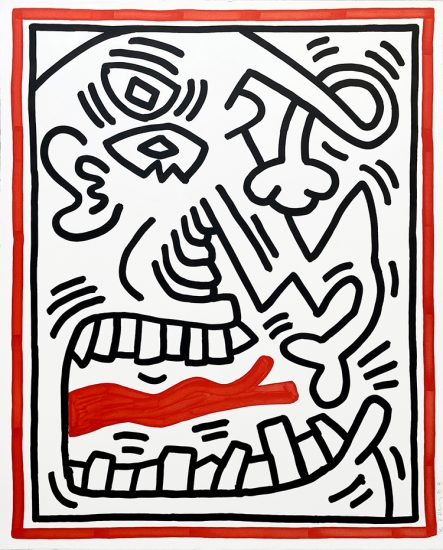 Keith Haring Lithograph, Three Lithographs (Plate 2), from the Three Lithographs Portfolio, 1985
