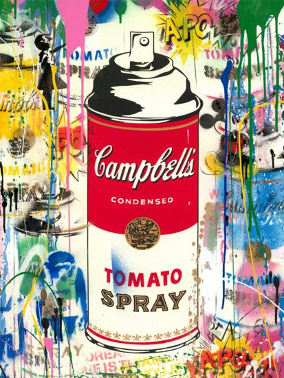 Mr. Brainwash Silkscreen, Tomato Spray, 2019