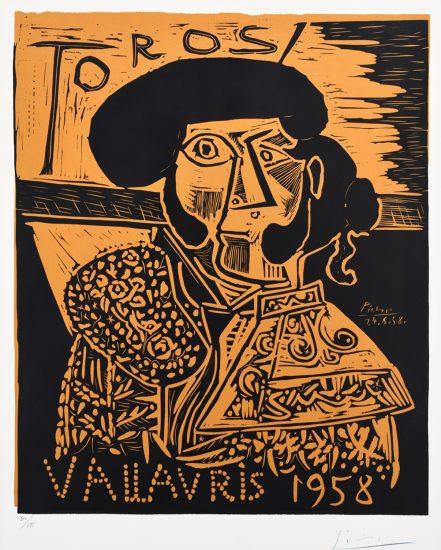 Pablo Picasso Artwork, Toros Vallauris (The Matador), 1958