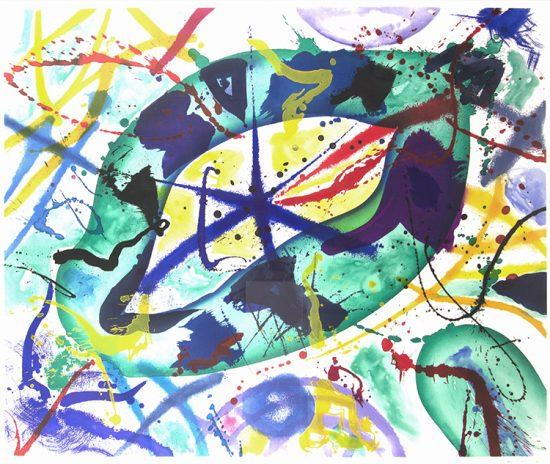 Sam Francis Aquatint, Trietto 1, 1991