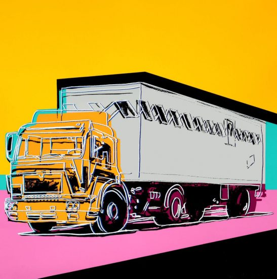 Andy Warhol Screen Print, Truck, 1985 FS II.367