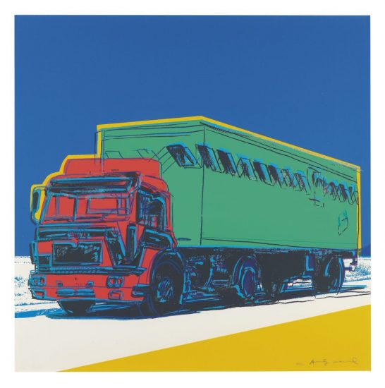 Andy Warhol Screen Print, Truck, 1985 FS II.368