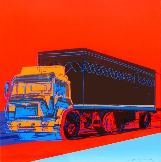Andy Warhol Screen Print, Truck, 1985 FS II.369