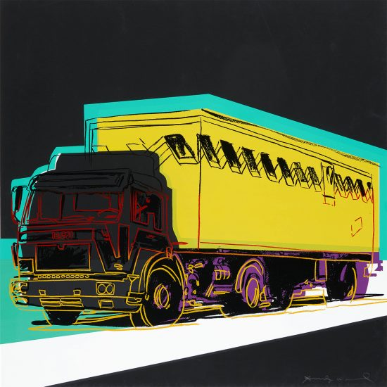 Andy Warhol Screen Print, Truck, 1985, unique color trial proof