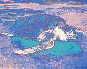 Andy Warhol Screen Print, Turtle, 1985