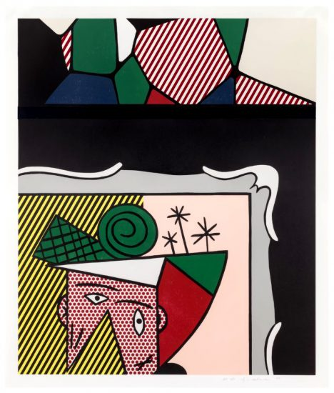 Roy Lichtenstein Woodcut, Two Paintings, 1984