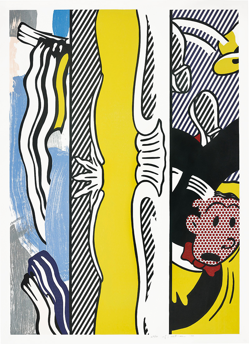 Lichtenstein woodcut and lithograph Two Paintings Dagwood 1984
