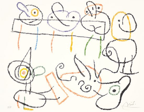 Joan Miró Lithograph, Ubu aux Baléares (Ubu of The Balearic Islands) Pl. 5, 1971
