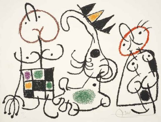 Joan Miró Lithograph, Ubu aux Baleares Pl. 15 (Ubu of the Balearic Islands Pl. 15) 1971