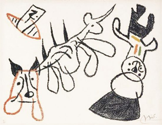 Joan Miró Lithograph, Ubu aux Baléares (Ubu of The Balearic Islands), 1971