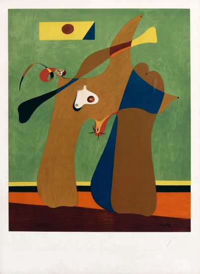 Joan Miró Lithograph, Une Femme (A Woman), 1958