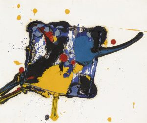 Sam Francis Monotype, Untitled, 1977