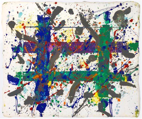 Sam Francis Monotype, Untitled, 1979