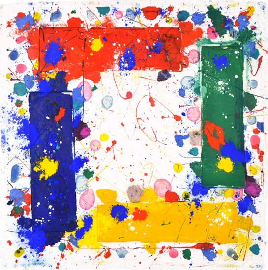 Sam Francis Lithograph, Untitled, 1981