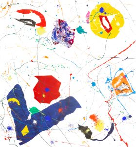 Sam Francis Monotype, Untitled, 1984-85