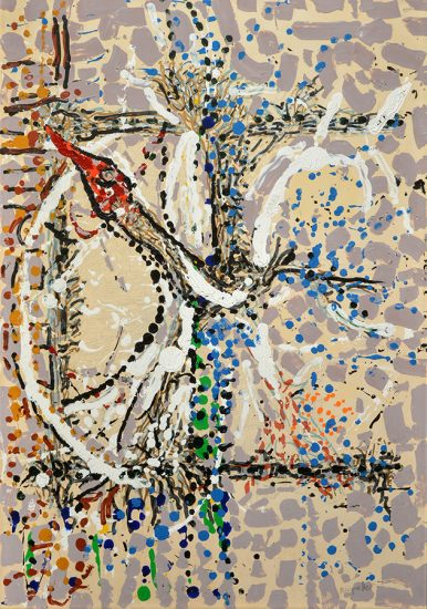 Jean-Paul Riopelle Acrylic, Untitled, 1985