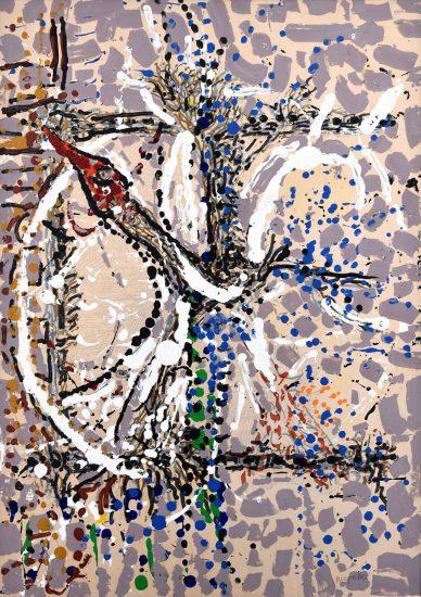 Jean-Paul Riopelle Acrylic, Untitled, 1985