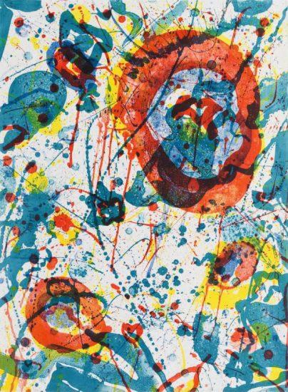 Sam Francis Lithograph, Untitled, 1986