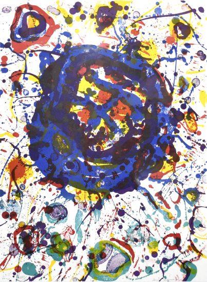 Sam Francis Lithograph, Untitled, 1986 Poèmes dans le ciel