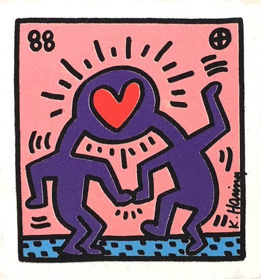 Keith Haring Silkscreen, Untitled, 1988