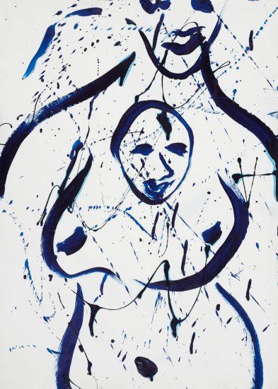 Sam Francis Acrylic, Untitled Acrylic, circa 1982