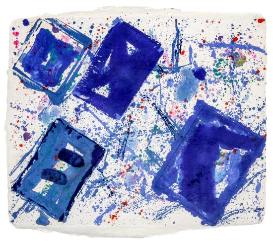 Sam Francis Monotype, Untitled (Blue Squares), 1978