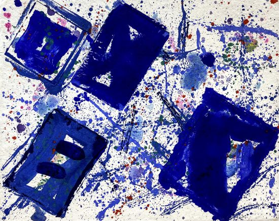 Sam Francis Lithograph, Untitled (Blue Squares), 1978