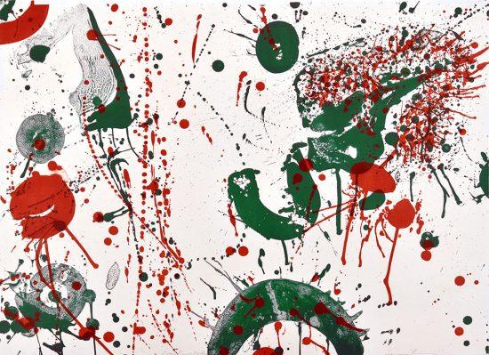 Sam Francis Lithograph, Untitled, c. 1963