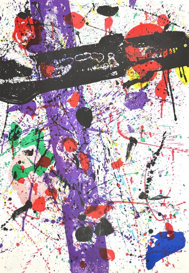 Sam Francis Lithograph, Untitled, from Eight By Eight to Celebrate the Temporary Contemporary, 1984