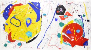 Sam Francis Monotype, Untitled, May 1985