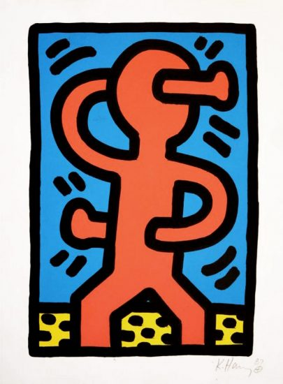 Keith Haring Lithograph, Untitled (Plate 1), 1987