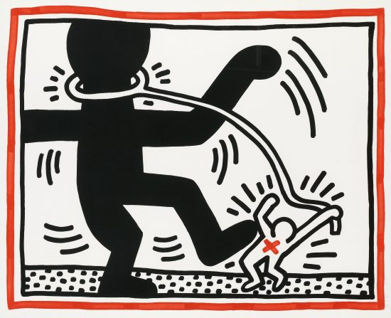 Keith Haring Lithograph, Untitled (Plate 2 from Free South Africa Series), 1985