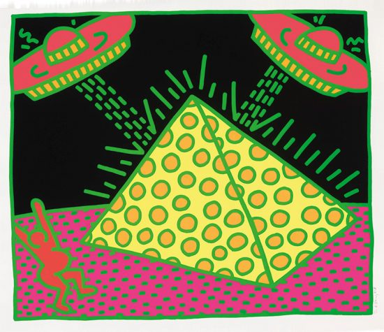 Keith Haring Screen Print, Fertility Untitled 2, from the Fertility Suite, 1983
