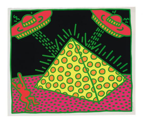Keith Haring Screen Print, Untitled (Plate 2 from the Fertility Suite), 1983