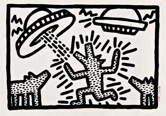 Keith Haring Lithograph, Untitled (Plate 4), 1982
