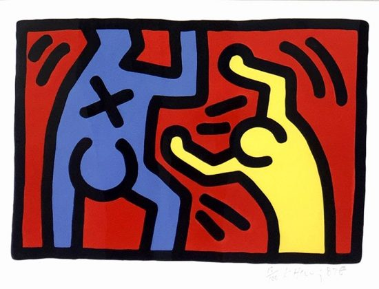 Keith Haring Lithograph, Untitled (Plate 4), 1987