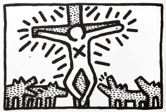 Keith Haring Lithograph, Untitled (Plate 6), 1982