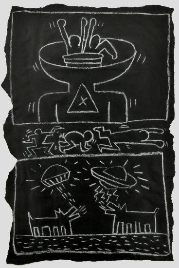 Keith Haring Chalk, Untitled (Subway Drawing), c. 1980-1985