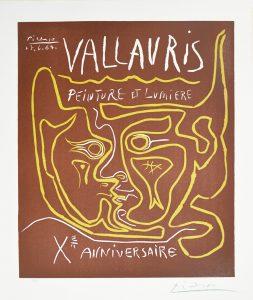 Pablo Picasso Linocut, Vallauris Peinture et Lumière, Xᵉ Anniversaire, 1964
