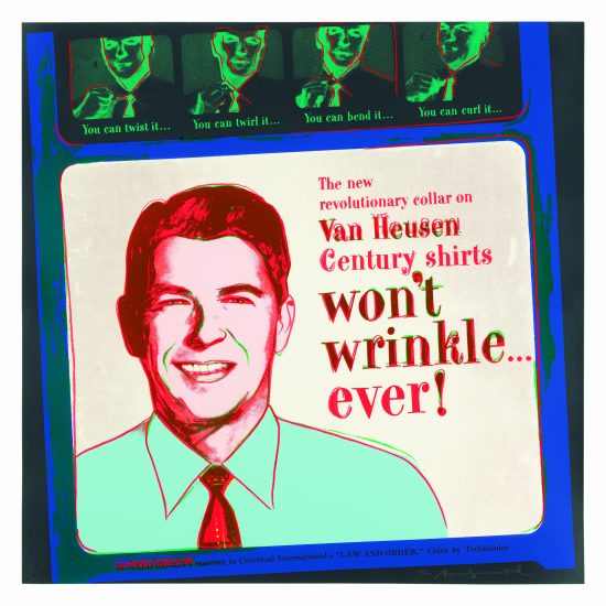 Andy Warhol Screen Print, Van Heusen, 1985 from the Ads Series