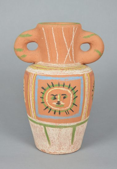 Pablo Picasso Ceramic, Vase au décor pastel (Vase with Pastel Decoration), 1953