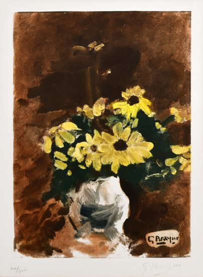 Georges Braque Lithograph, Vase de Fleurs Jaunes (Vase of Yellow Flowers), 1960