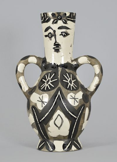 Pablo Picasso Ceramic, Vase deux anses hautes (Vase with Two High Handles), 1952 A.R. 141