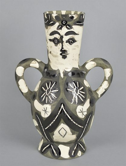 Pablo Picasso Ceramic, Vase deux anses hautes (Vase with Two High Handles) (King), 1952
