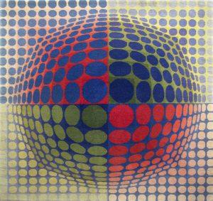 Victor Vasarely Tapestry, Vega-Pal