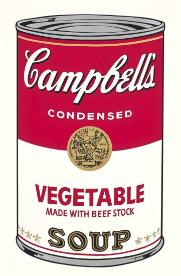 Andy Warhol Screen Print, Vegetable Made with Beef Stock, from the Campbell's Soup I Portfolio, 1968