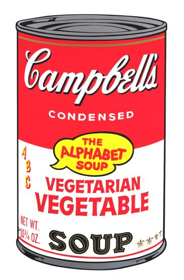Andy Warhol Screen Print, Vegetarian Vegetable Soup from Campbell's Soup II, 1969
